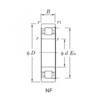 105 mm x 260 mm x 60 mm  KOYO NF421 cylindrical roller bearings