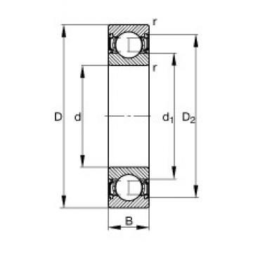 100 mm x 180 mm x 34 mm  FAG 6220-2RSR deep groove ball bearings