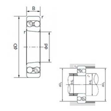 100 mm x 180 mm x 34 mm  NACHI 1220K self aligning ball bearings