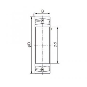 140 mm x 225 mm x 68 mm  NACHI 23128EX1 cylindrical roller bearings