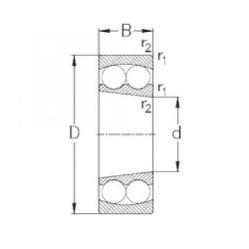 100 mm x 180 mm x 34 mm  NKE 1220-K self aligning ball bearings