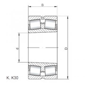 190 mm x 340 mm x 120 mm  Loyal 23238 KCW33 spherical roller bearings