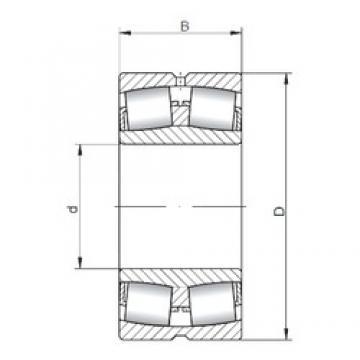 340 mm x 580 mm x 190 mm  ISO 23168W33 spherical roller bearings