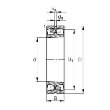 340 mm x 580 mm x 190 mm  FAG 23168-B-K-MB spherical roller bearings