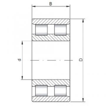 140 mm x 225 mm x 68 mm  ISO NN3128 cylindrical roller bearings