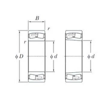 190 mm x 340 mm x 120 mm  KOYO 23238RHAK spherical roller bearings