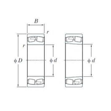 260 mm x 440 mm x 144 mm  KOYO 23152RK spherical roller bearings