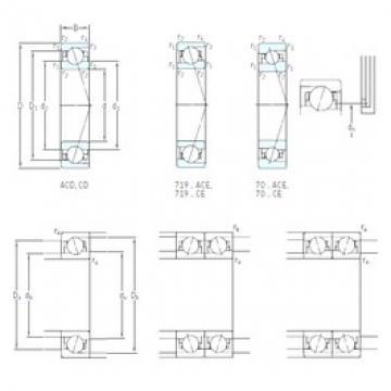 110 mm x 150 mm x 20 mm  SKF 71922 ACB/P4A angular contact ball bearings