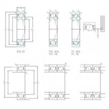 110 mm x 150 mm x 20 mm  SKF 71922 CE/HCP4A angular contact ball bearings