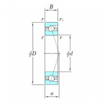 110 mm x 150 mm x 20 mm  KOYO 3NCHAC922CA angular contact ball bearings