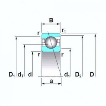 110 mm x 150 mm x 20 mm  NSK 7922A5TRSU angular contact ball bearings