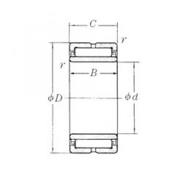 240 mm x 320 mm x 80 mm  NSK NA4948 needle roller bearings