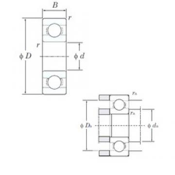 5 mm x 13 mm x 4 mm  KOYO 695 deep groove ball bearings