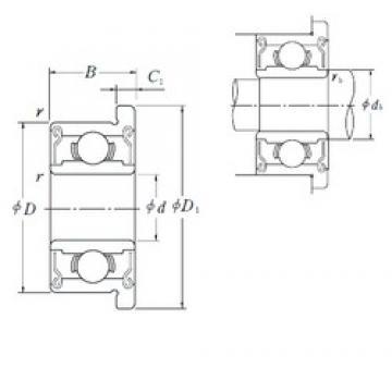 5 mm x 13 mm x 4 mm  ISO F695-2RS deep groove ball bearings