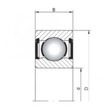 5 mm x 13 mm x 4 mm  Loyal 619/5 ZZ deep groove ball bearings