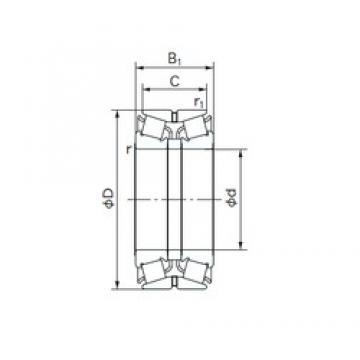 NACHI 340KBE031 tapered roller bearings