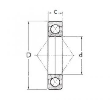 100 mm x 180 mm x 34 mm  FBJ QJ220 angular contact ball bearings