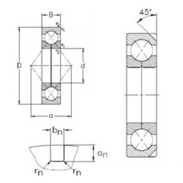 100 mm x 180 mm x 34 mm  NKE QJ220-N2-MPA angular contact ball bearings