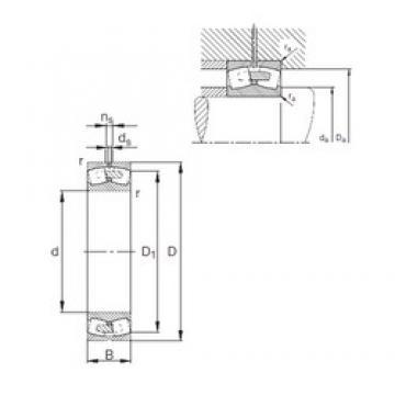340 mm x 580 mm x 190 mm  FAG 23168-E1A-MB1 spherical roller bearings