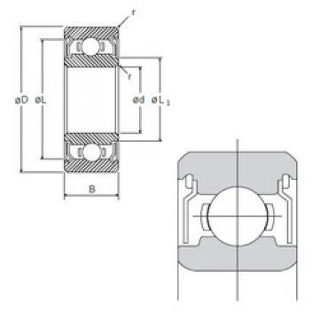 5 mm x 13 mm x 4 mm  NMB R-1350ZZ deep groove ball bearings