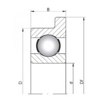 5 mm x 13 mm x 4 mm  ISO FL619/5 deep groove ball bearings
