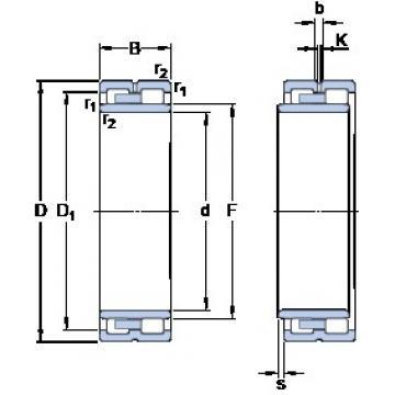 240 mm x 320 mm x 80 mm  SKF NNU 4948 B/SPW33 cylindrical roller bearings