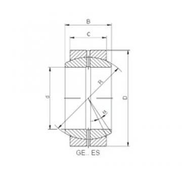 45 mm x 68 mm x 32 mm  Loyal GE 045 ES plain bearings
