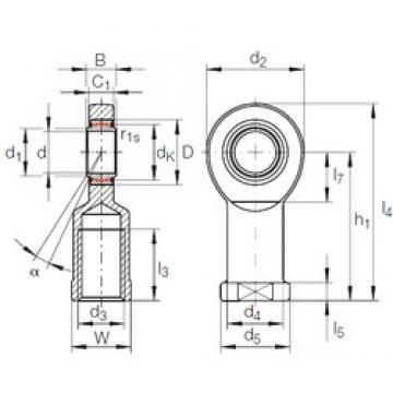 45 mm x 68 mm x 32 mm  INA GIR 45 UK-2RS plain bearings
