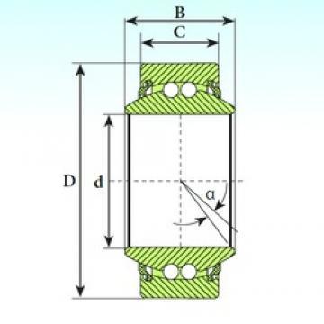 45 mm x 68 mm x 32 mm  ISB GE 45 BBL self aligning ball bearings