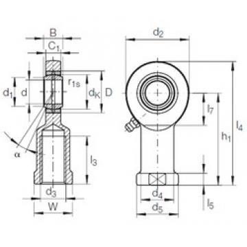 45 mm x 68 mm x 32 mm  INA GIR 45 DO-2RS plain bearings
