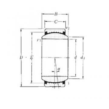 45 mm x 68 mm x 32 mm  NTN SAR1-45 plain bearings