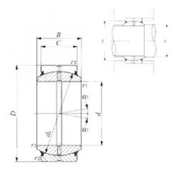 45 mm x 68 mm x 32 mm  IKO GE 45ES-2RS plain bearings