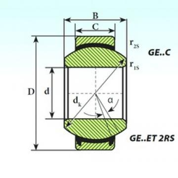 45 mm x 68 mm x 32 mm  ISB GE 45 ET 2RS plain bearings