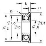 AST F695HZZ deep groove ball bearings
